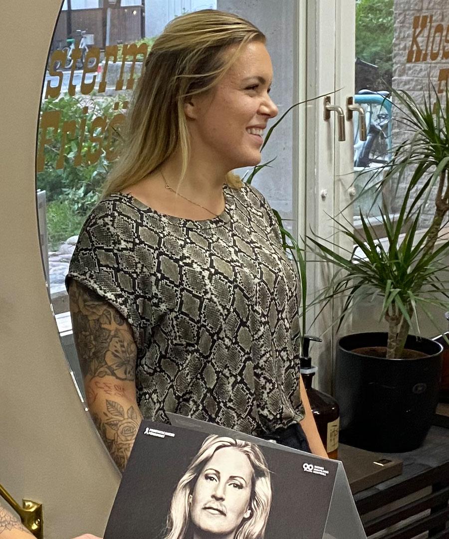 Barberare Nathalie Jäderqvist hos Klostermanns Frisörer