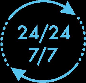 service 24h sur 24, 7 jours sur 7
