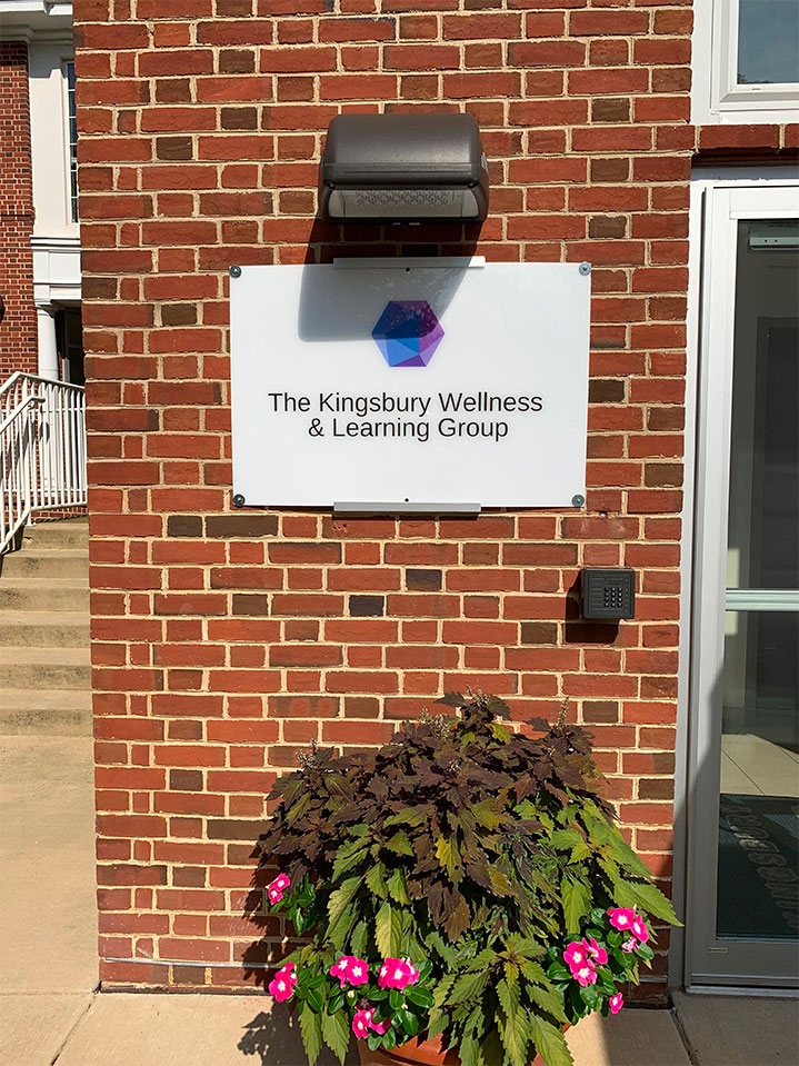 Entrance to Kingsbury Wellness