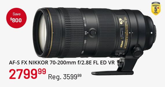 AF-S FX NIKKOR 70-200mm f/2.8E FL ED VR