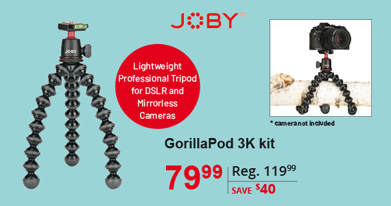 Joby Gorilla Pod 3K kit