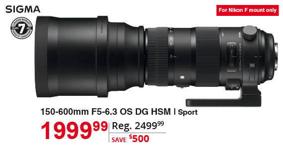 Sigma 150-600mm F5-6.3 OS DG HSM
