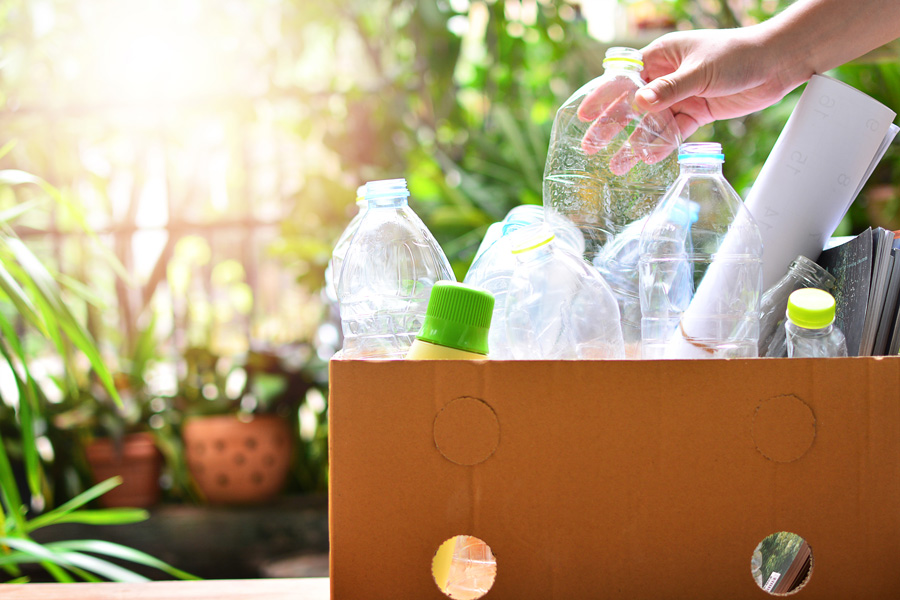 plastic bottles for recycling, be eco-friendly