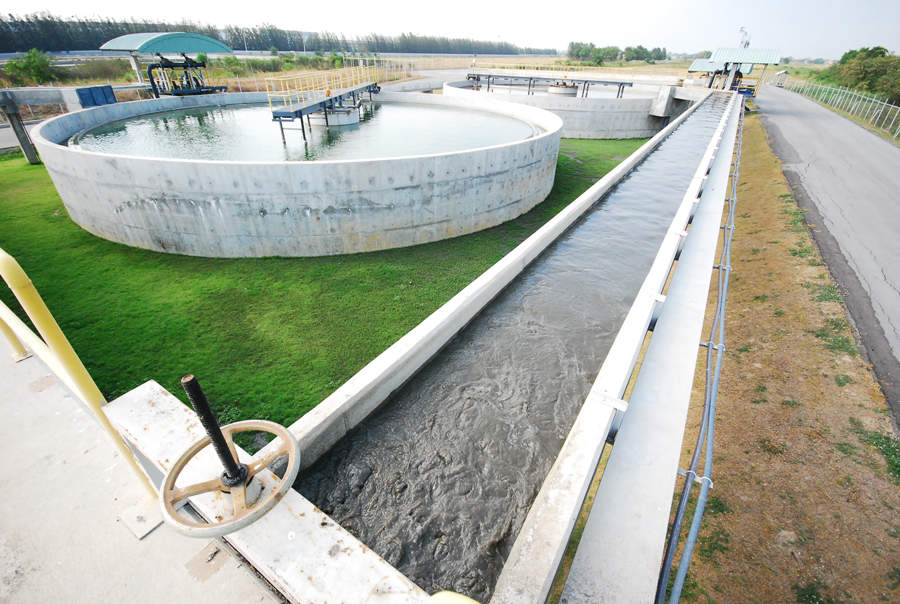 Waster water treatment plant in industry for environment protection by aeration pump