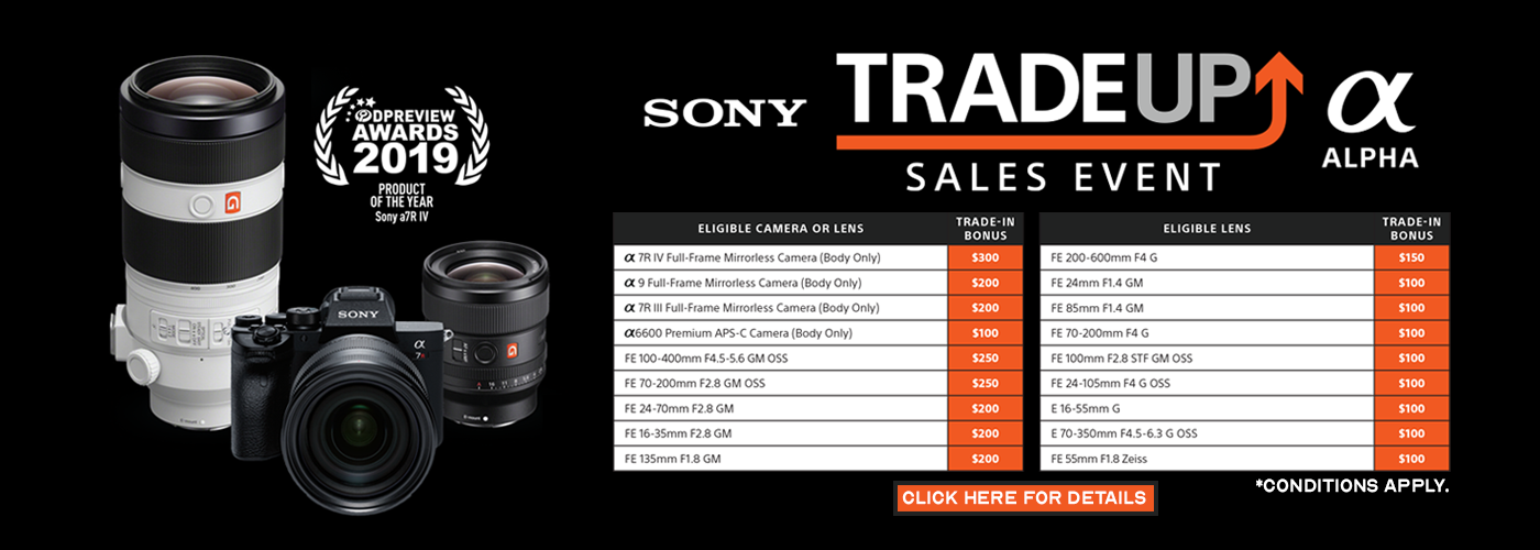 Sony Trade-Up Sales Event