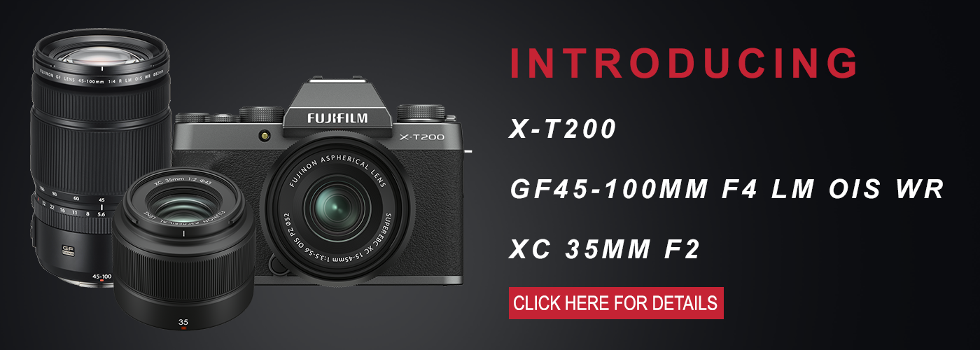 Fujifilm Product Announcements: X-T200, XC 35mm F2, and GF 45-100 F4 R
