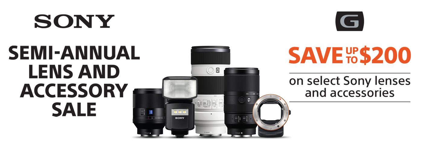 Sony Semi-Annual Lens And Accessory Sale