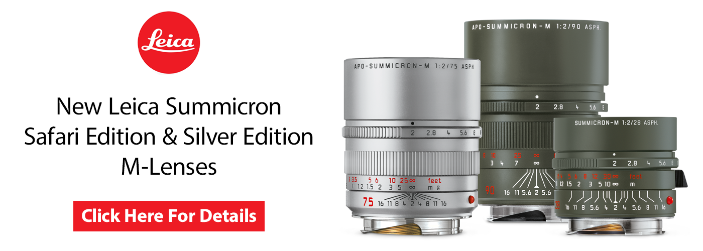 New Limited Edition Safari & Silver Summicron M-Lenses