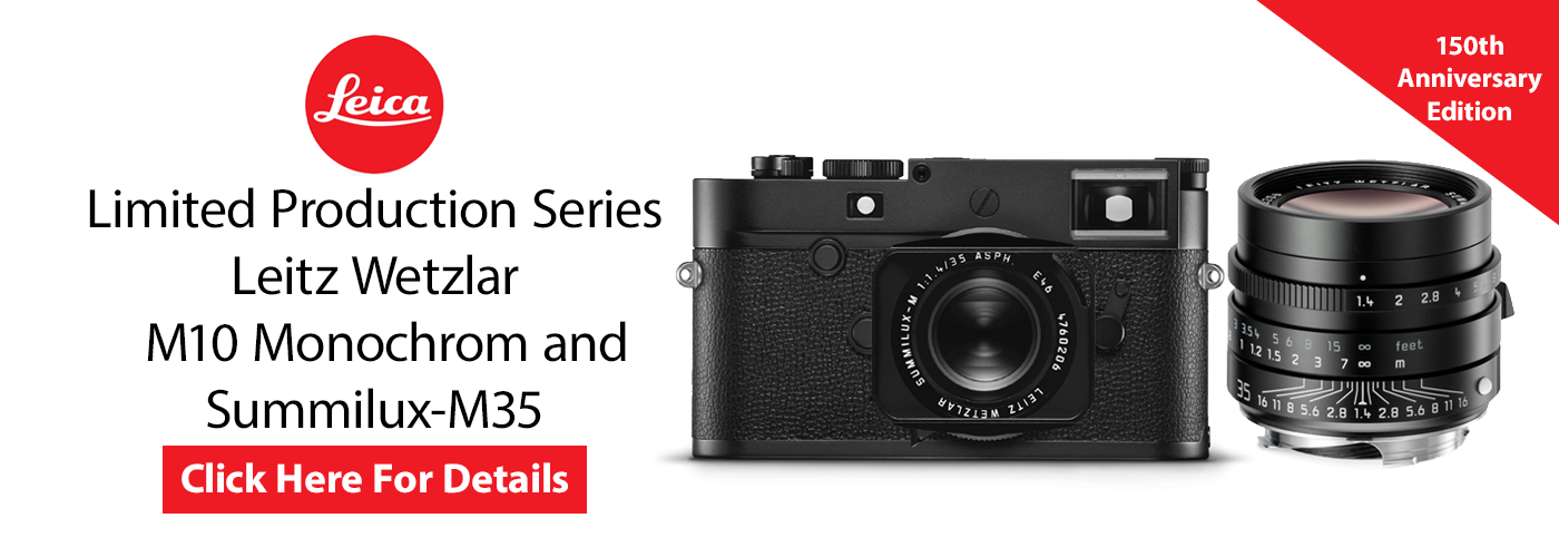 "Limited Production  ""Leitz Wetzlar"" Series of the Leica M10 Monochrom Camera and Summilux-M35"