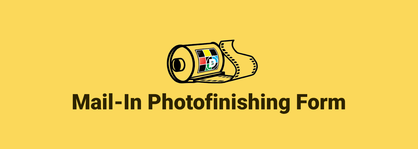 Mail-In Photofinishing Form