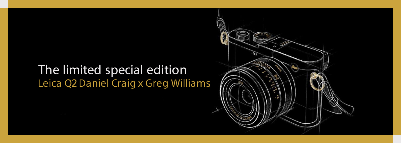 The limited special edition Leica Q2 Daniel Craig x Greg Williams
