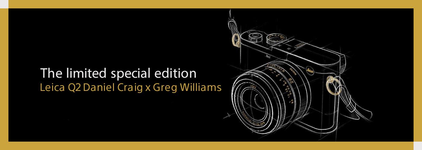 The limited special edition Leica Q2 Daniel Craig x Greg Williams