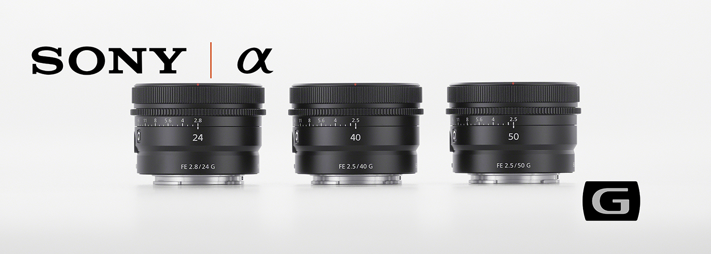 Sony Introduces New ultra-compact 50mm, 40mm and 24mm G Lenses