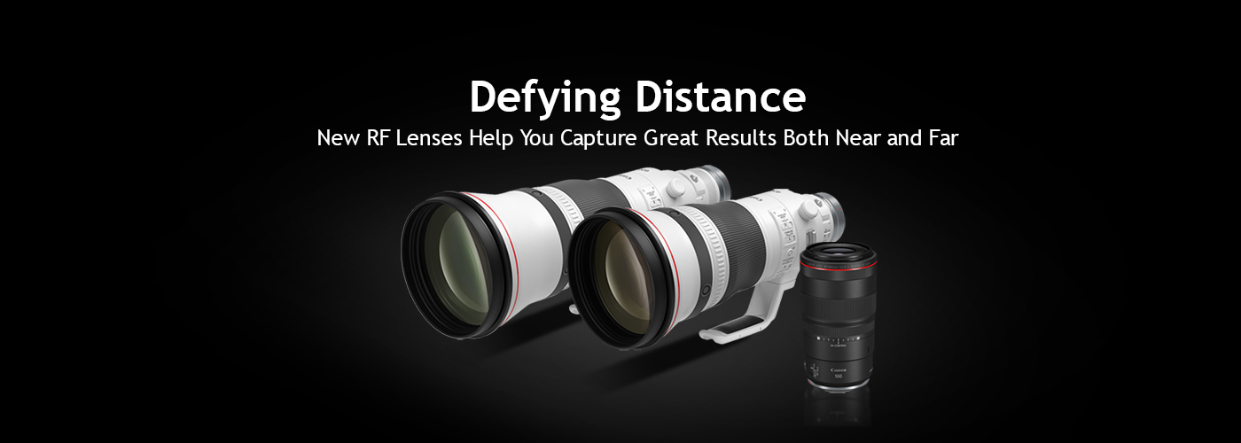 Canon RF100mm F2.8 L Macro IS USM, Canon RF400mm F2.8 L IS USM and Canon RF600mm F4L IS USM