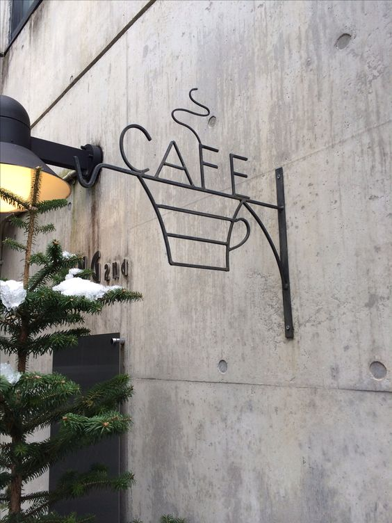 fasadeskilt kafe