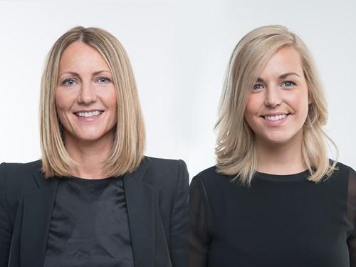 Kristin Fjellby Grung og Birgitte Søvre Vaagen fra ADVISO