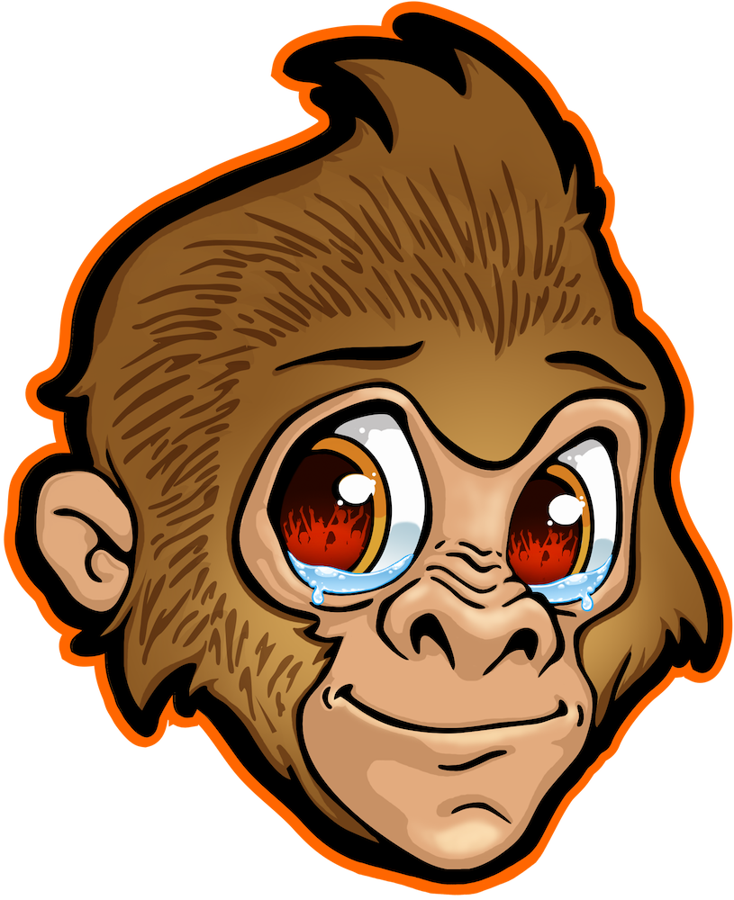 Monkey Teer Text Logo