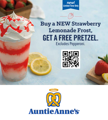 Strawberry Lemonade Frost coupon with qr code