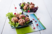 Asian pork meatballs.
