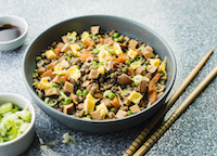 Cantonese rice style lentils