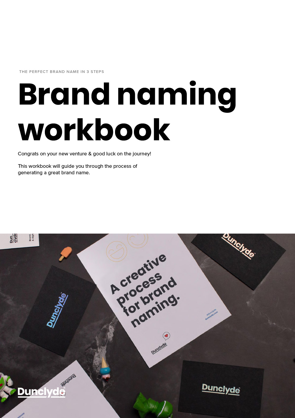 Brand naming workbook cover