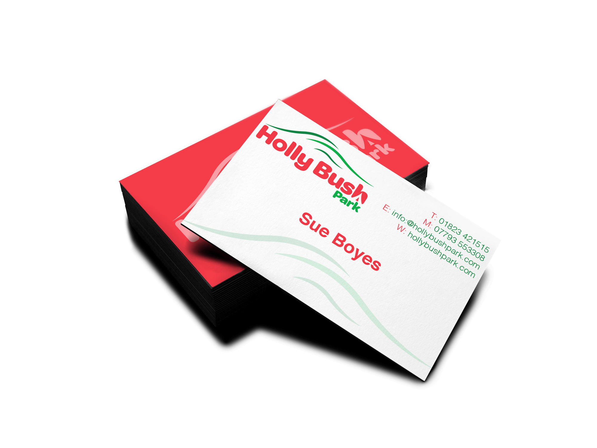 Holly Bush Park Business card design