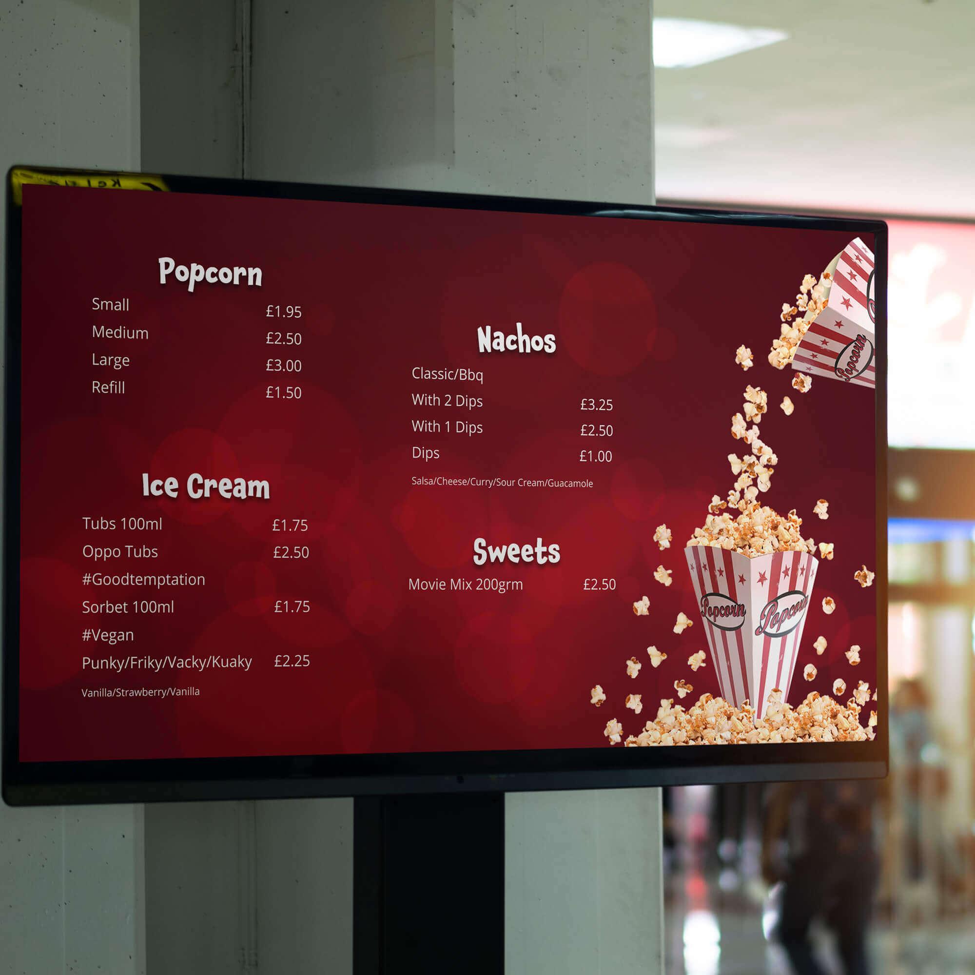Digital menu design