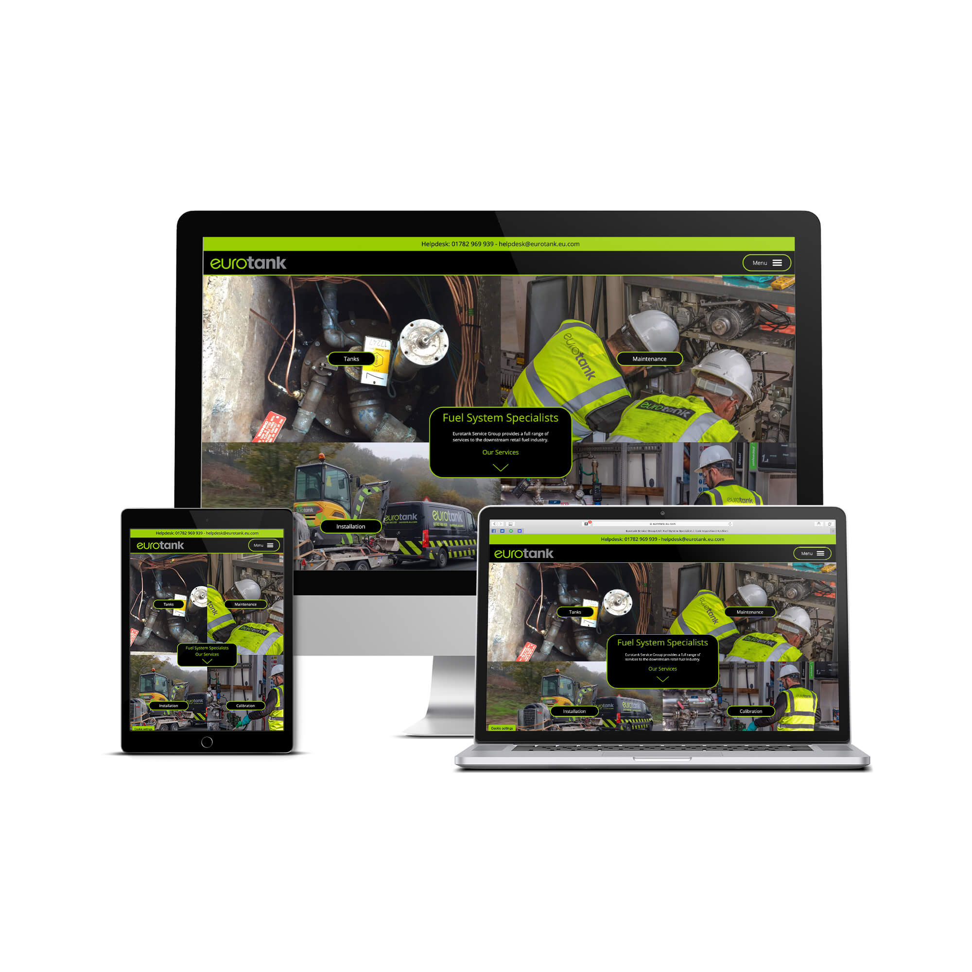 Eurotank Service Group Website design