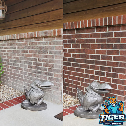 brick cleaning power washing project