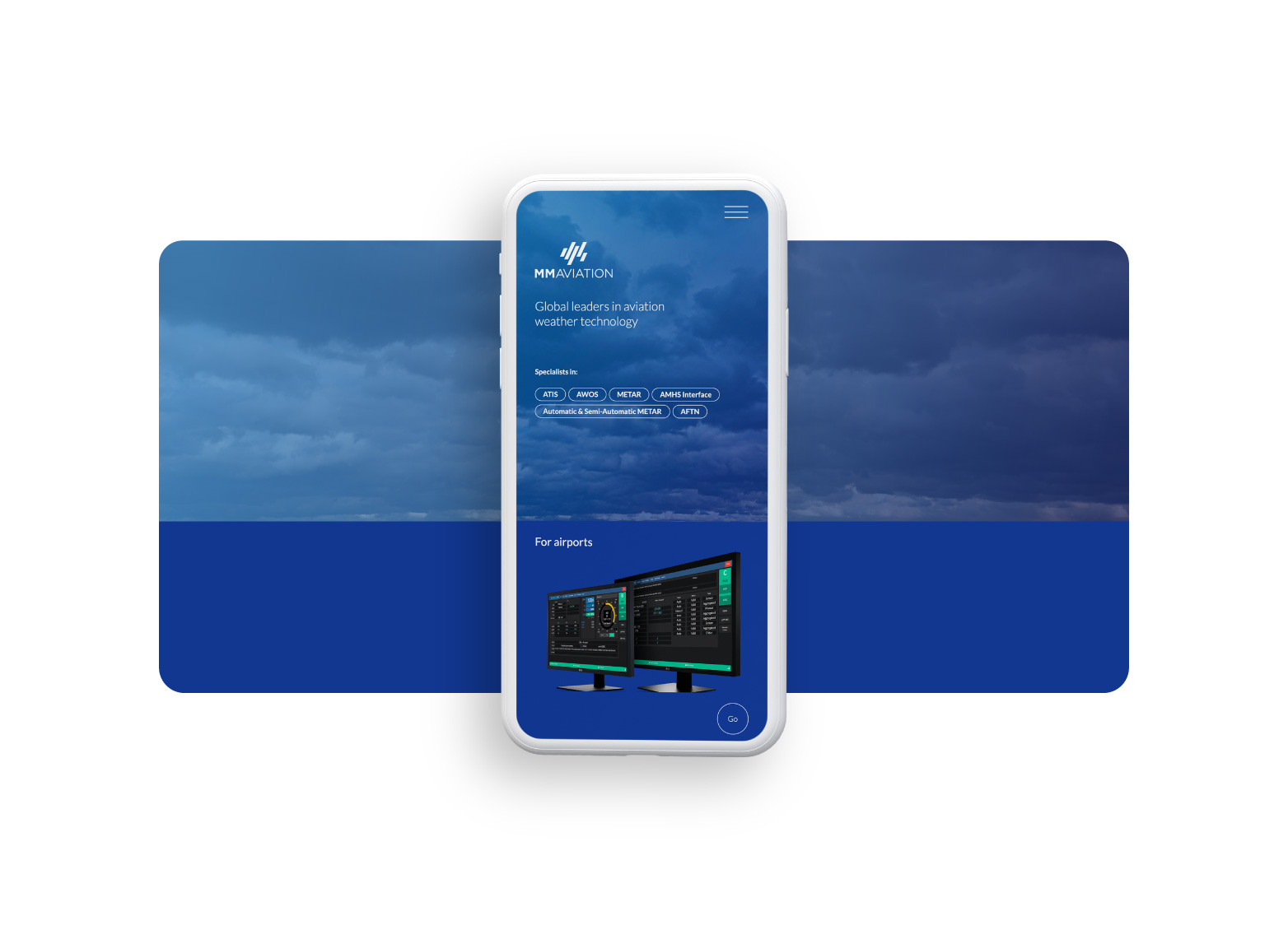 MM Aviation site on a mobile phone