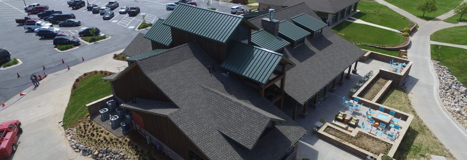 Installed a New Metal Roof System and GAF laminated shingles.