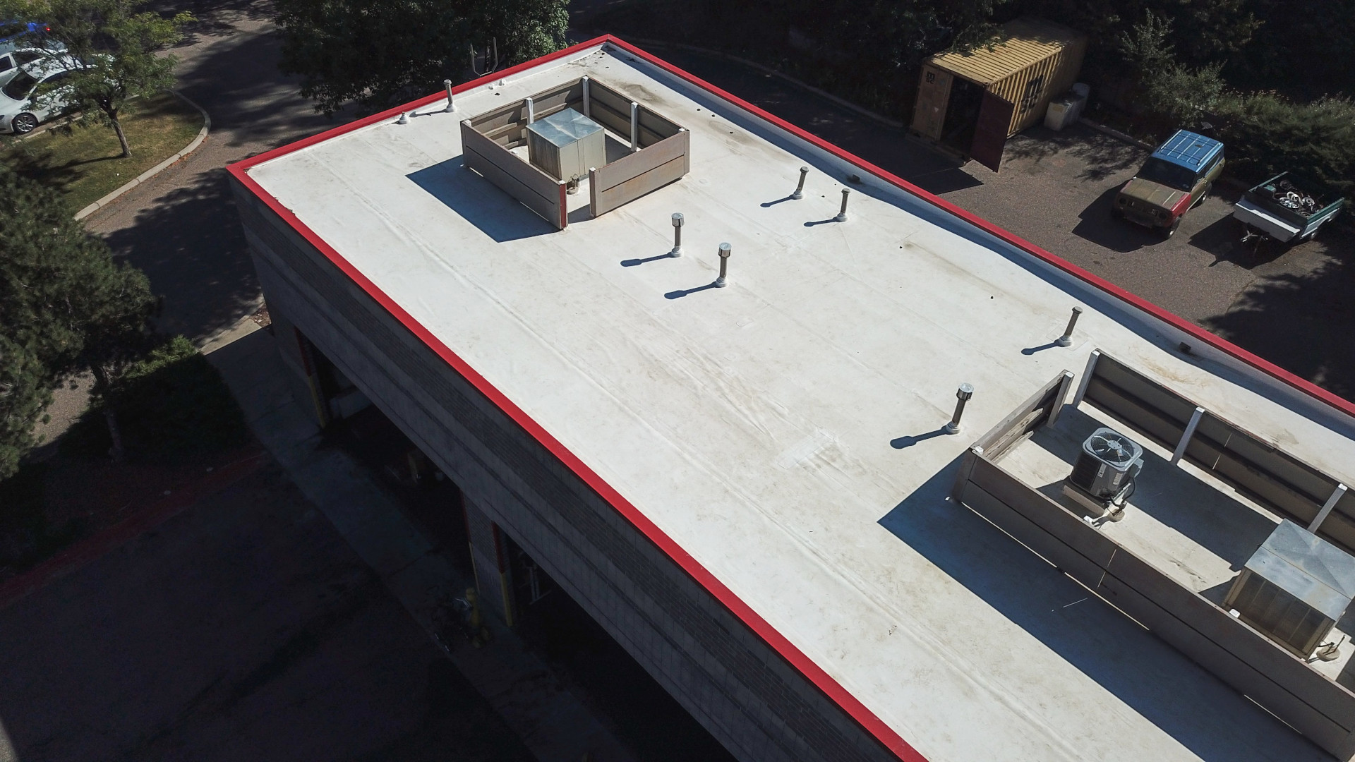 Installed a Commercial Flat Reroof.