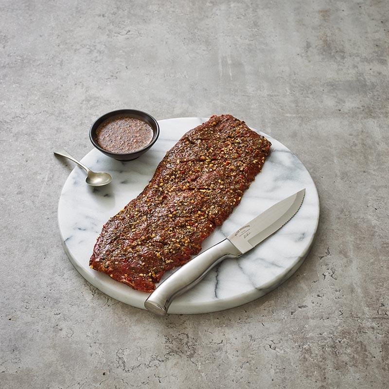Grass Fed Beef Flat Iron SteakMarinated