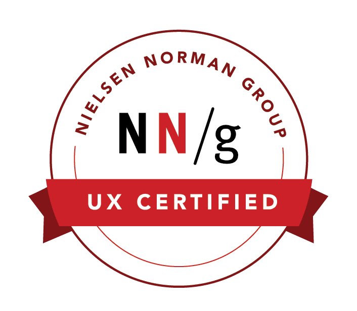 Nielsen Norman Certification Badge for Nikos Kotsakis