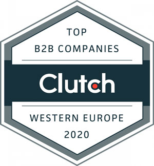 top b2b company award by clutch for 2020