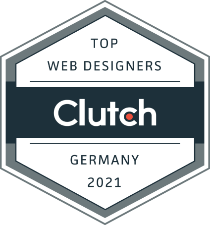 top design agency in Germany award by clutch for 2020