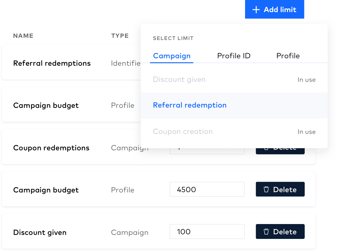 View budgets and coupon redemption limits in the Campaign Manager
