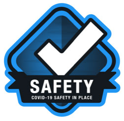 COVID-19 Safety in Place badge
