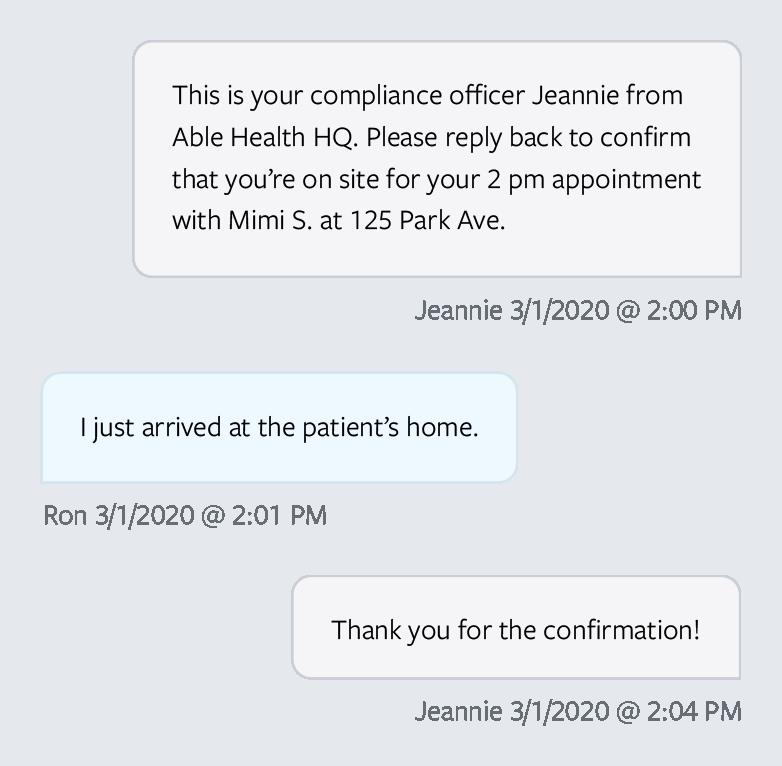 Compliance conversation