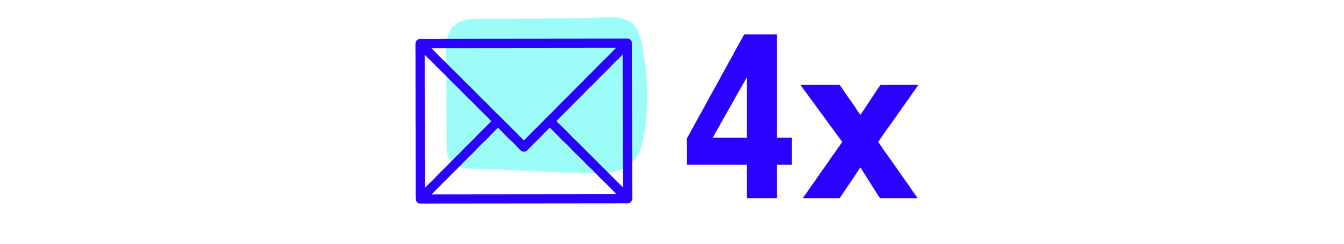 Email icon with 4x
