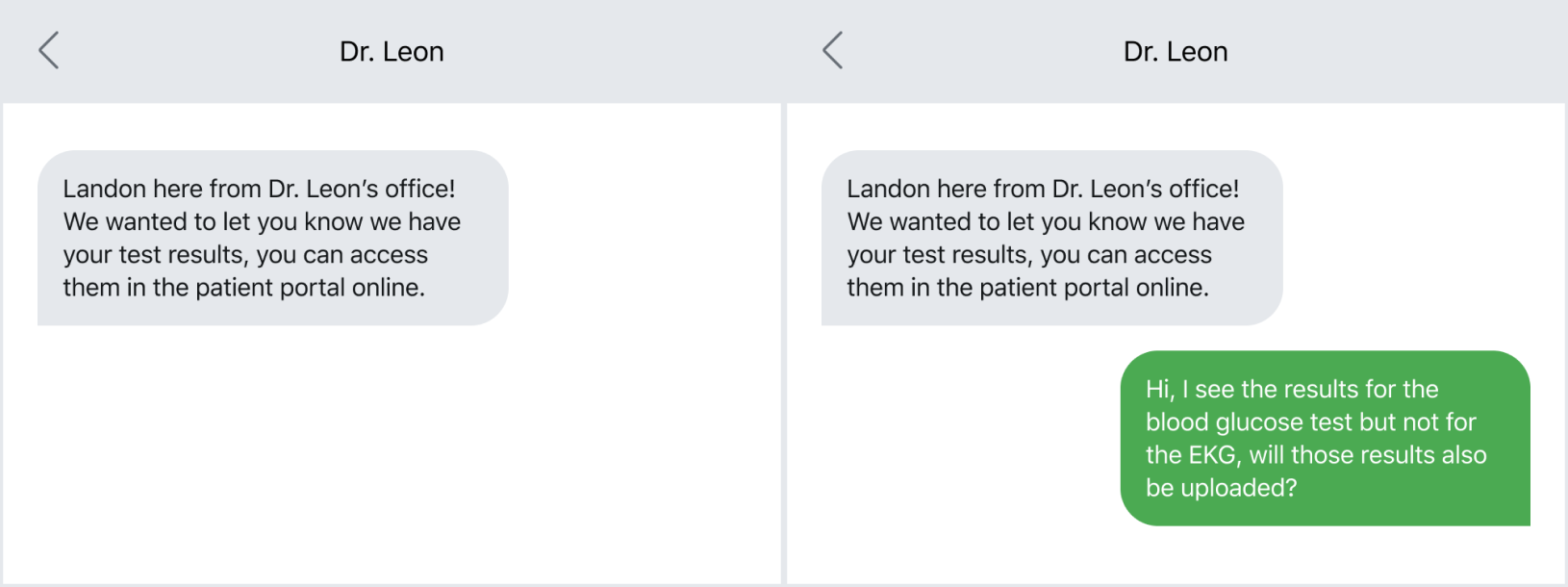 Examples of HIPAA-compliant and non-compliant text messages