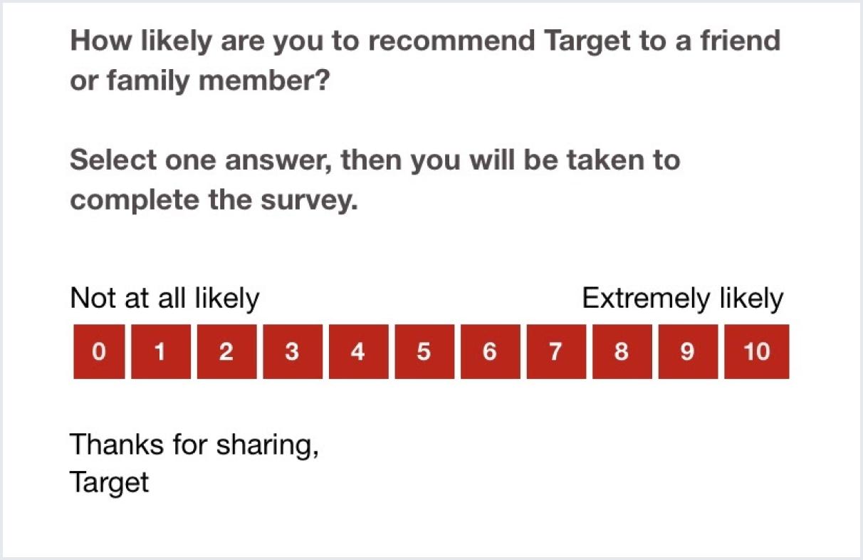 Target NPS survey