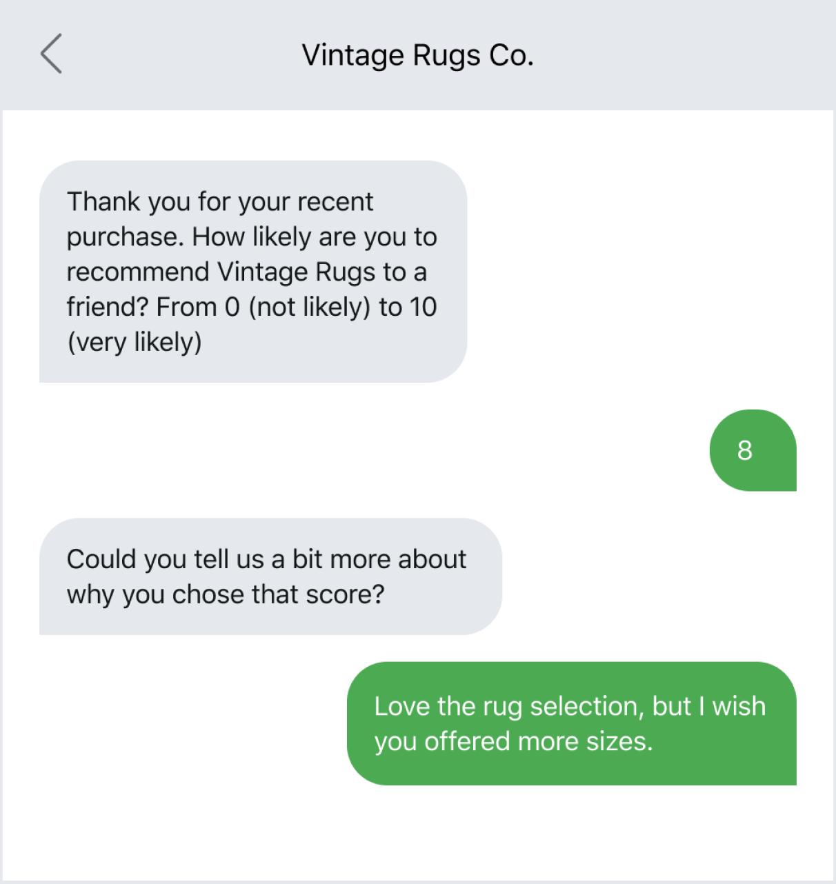 Sending an NPS survey at a customer milestone