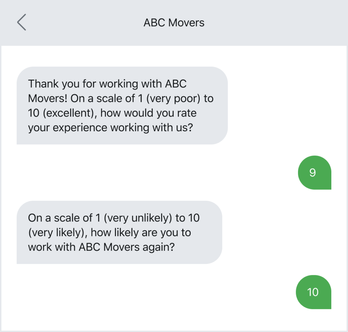 Using a text survey tool like NPS to gauge employee satisfaction