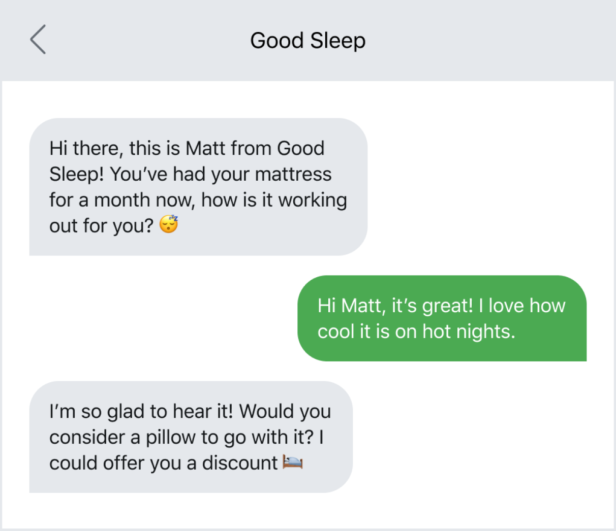 Using text announcements to check-in with customers and upsell