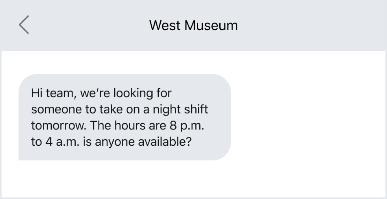 Mass texting field employees to fill a last-minute job