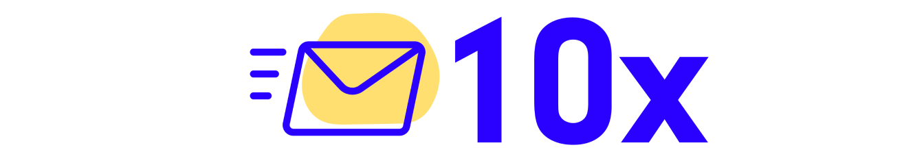 Mail icon and 10x
