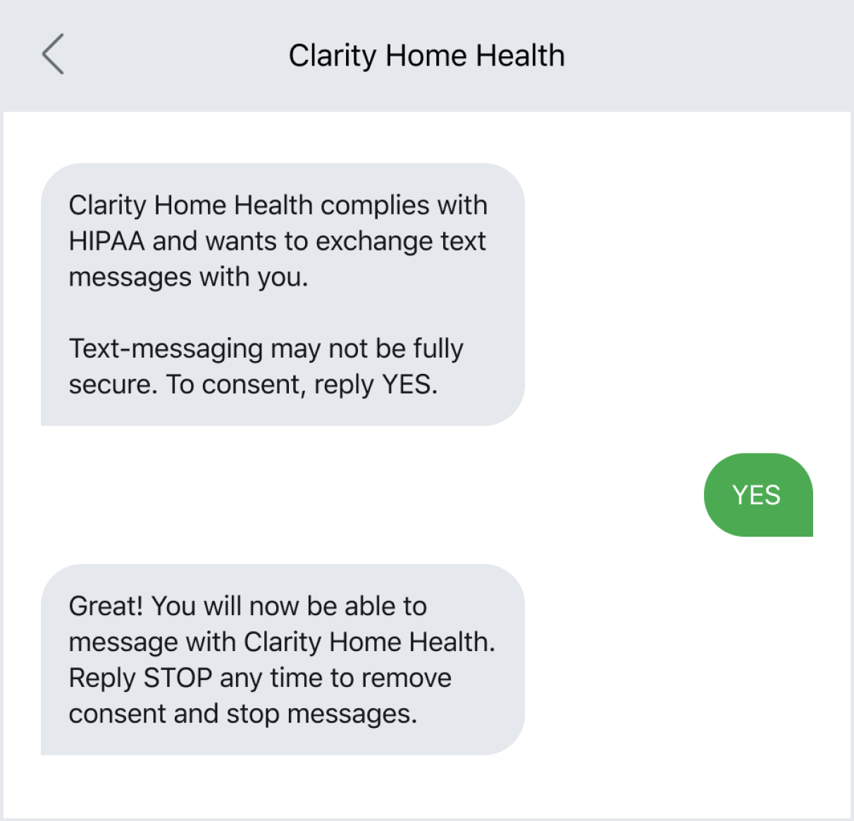 Home healthcare business using HIPAA compliant texting