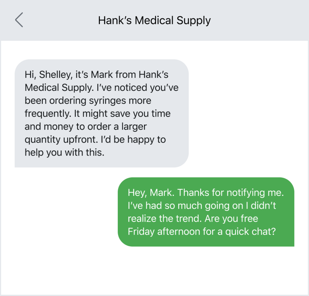 Keeping a pulse on customers via text