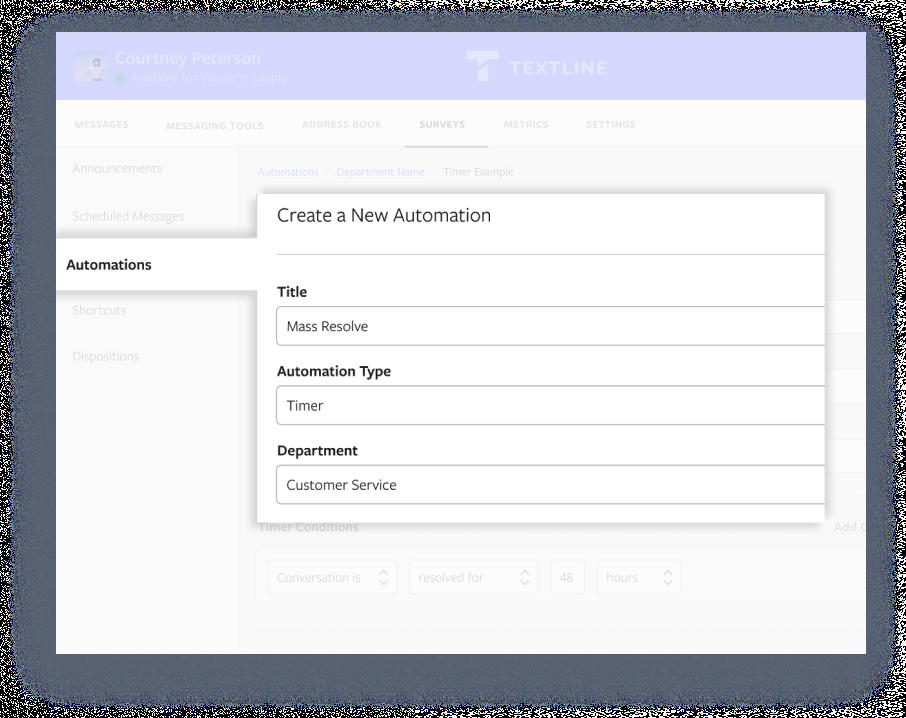 Textline's Automation feature
